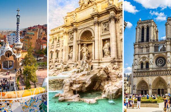 Комбинированные туры по Европе